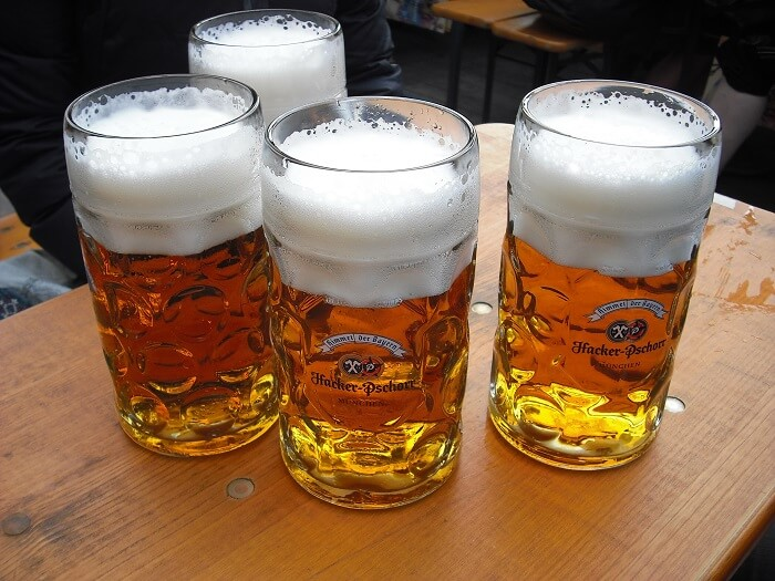 oktoberfest food and beer prices