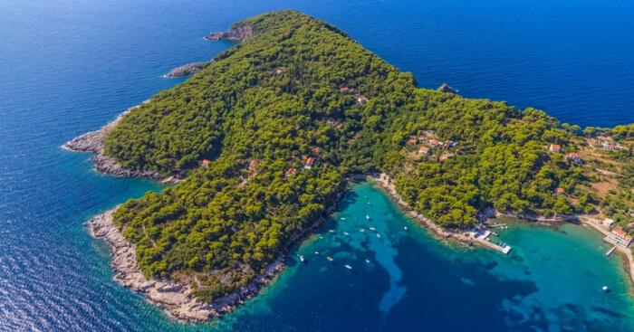 An island near Dubrovnik