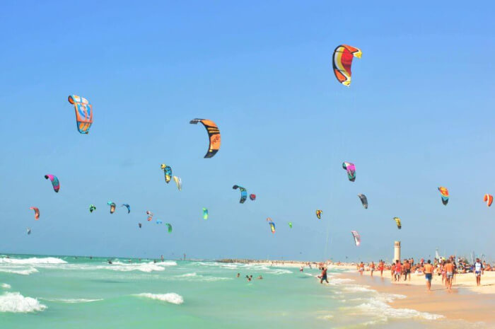Kite beach is a soothing spot to unwind and be at ease