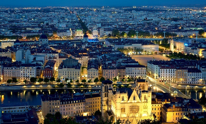 city of lights, Lyon