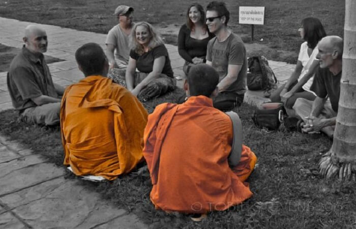 unique opportunity to chat with monks
