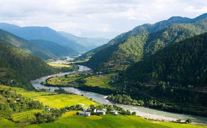a small Bhutanese village