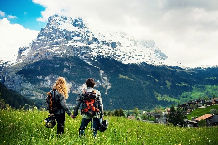 couple in Switzerland