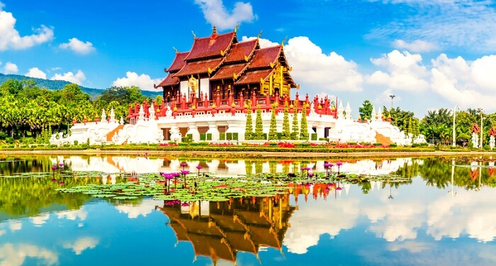 A view of beautiful temple in Thailand