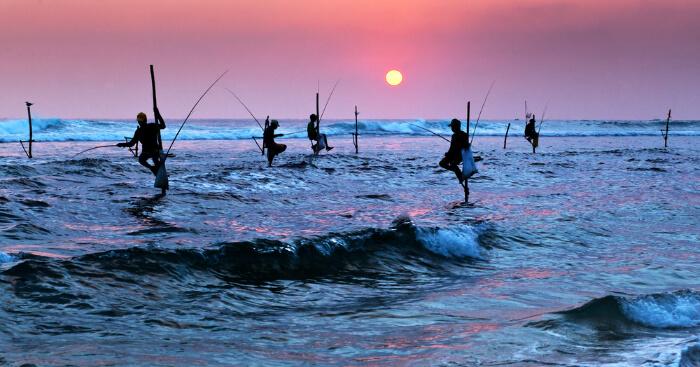Sri Lanka sea during sunset