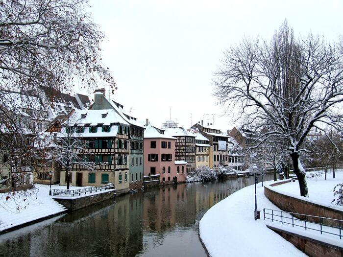 snowfall in strasbourg