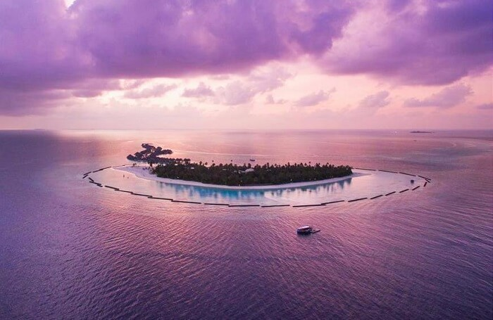 Halaveli Island Resort in the evening