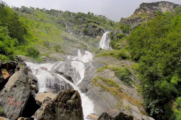 Annapurna Circuit Waterfall