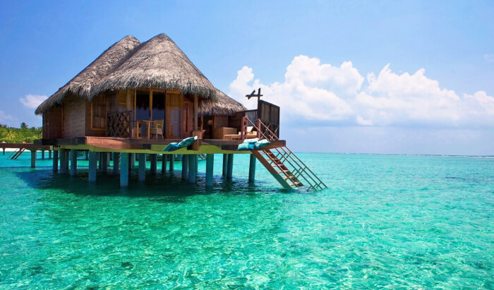 hut in the water
