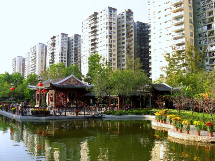popular garden in Mongkok