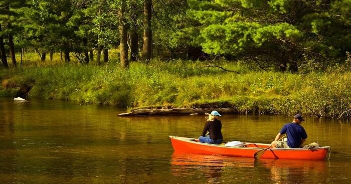 canoe ride in national park