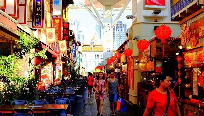 famous market in singapore