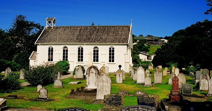 famous church with cemetary