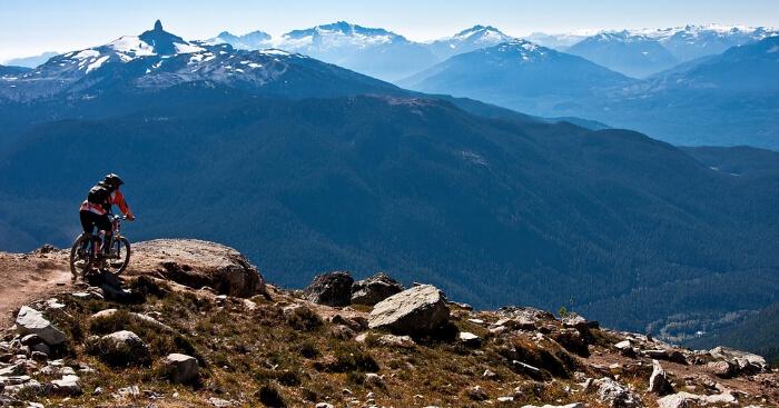 Mountain biking near Everest
