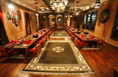 Interior of a restaurant in Kathmandu