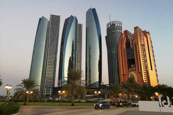 Etihad Towers in Abu Dhabi