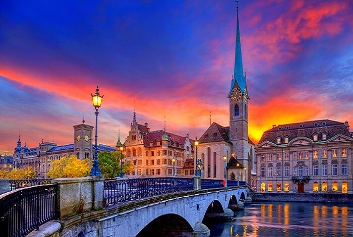 magnificent sunset view of the famous church