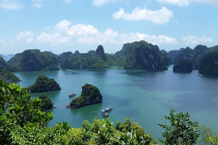 View of the famous bay in Vietnam
