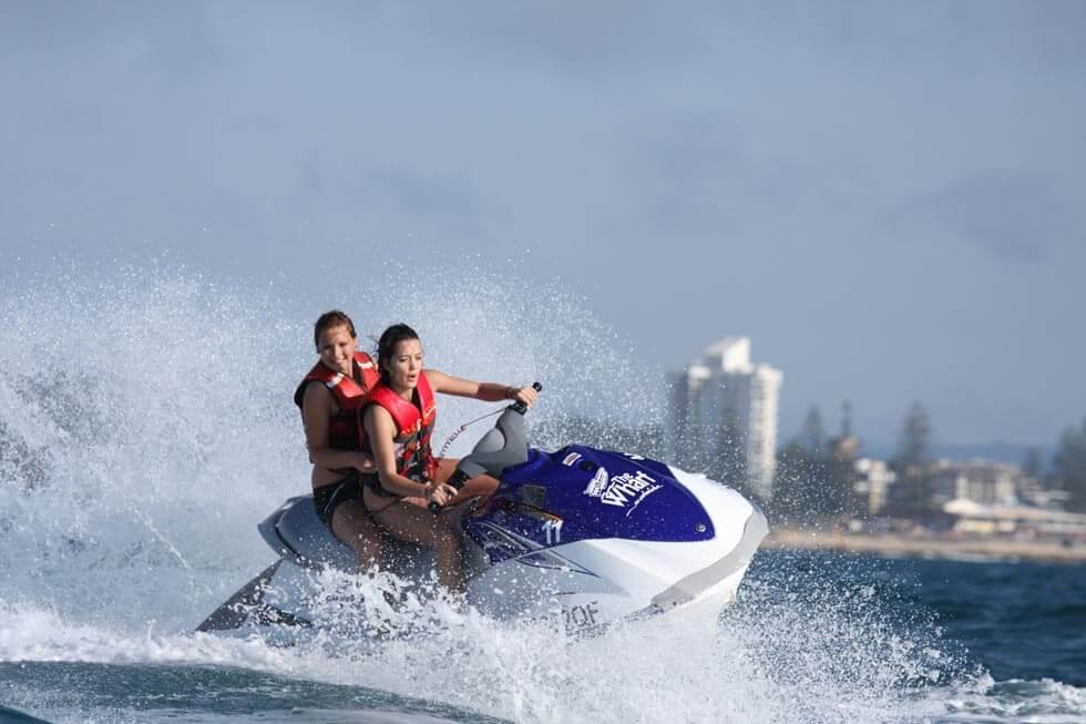 couple doing Jet Skiing