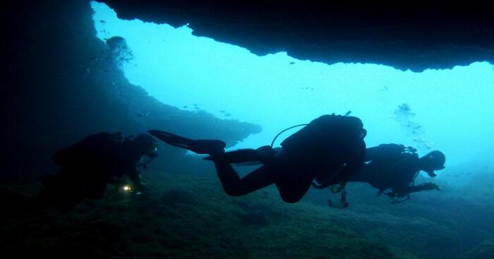exploring caves at kalpitiya
