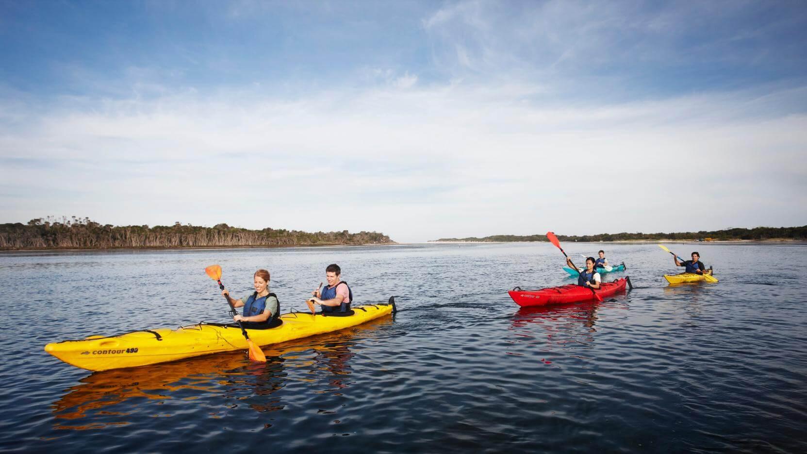 experts doing kayaking activity