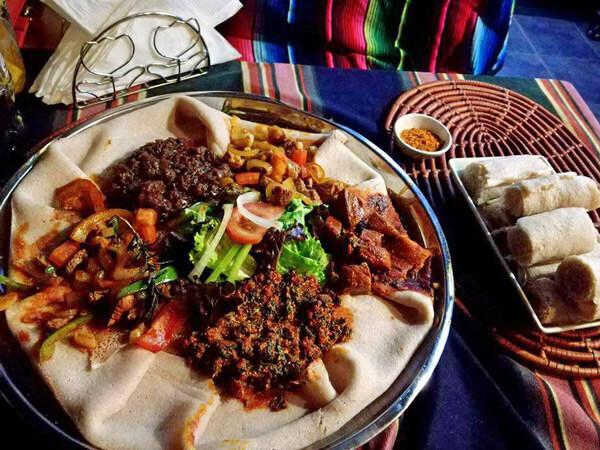tasting African food