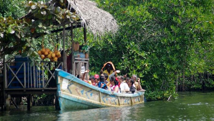 boat in a river