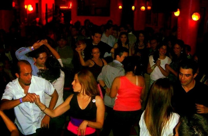 salsa dance in famous club in mexico