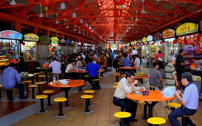 famous hawkers and food market