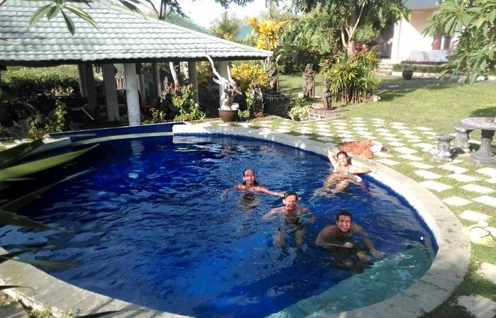 A pool in hostel