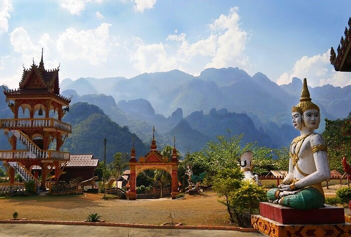 offers breathtaking views of Laos