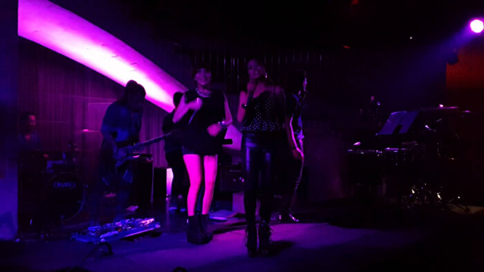 girl dancing in bar