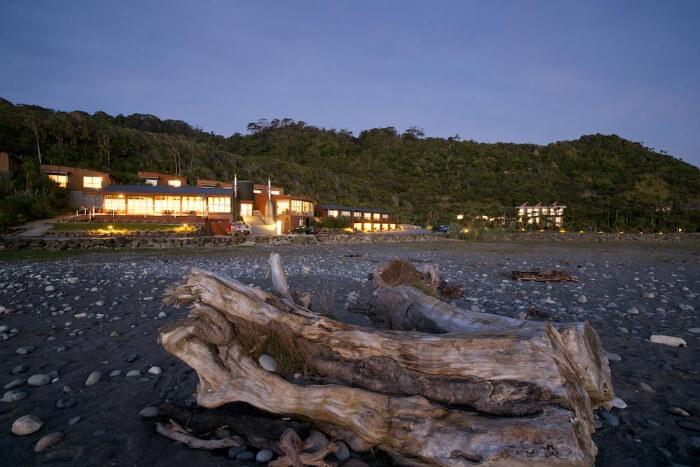 rocks in front of resort