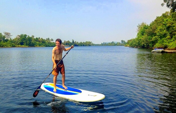 fun activity in the Kampot river
