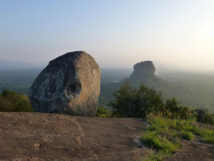 Sigiriya's view from Pidurangala