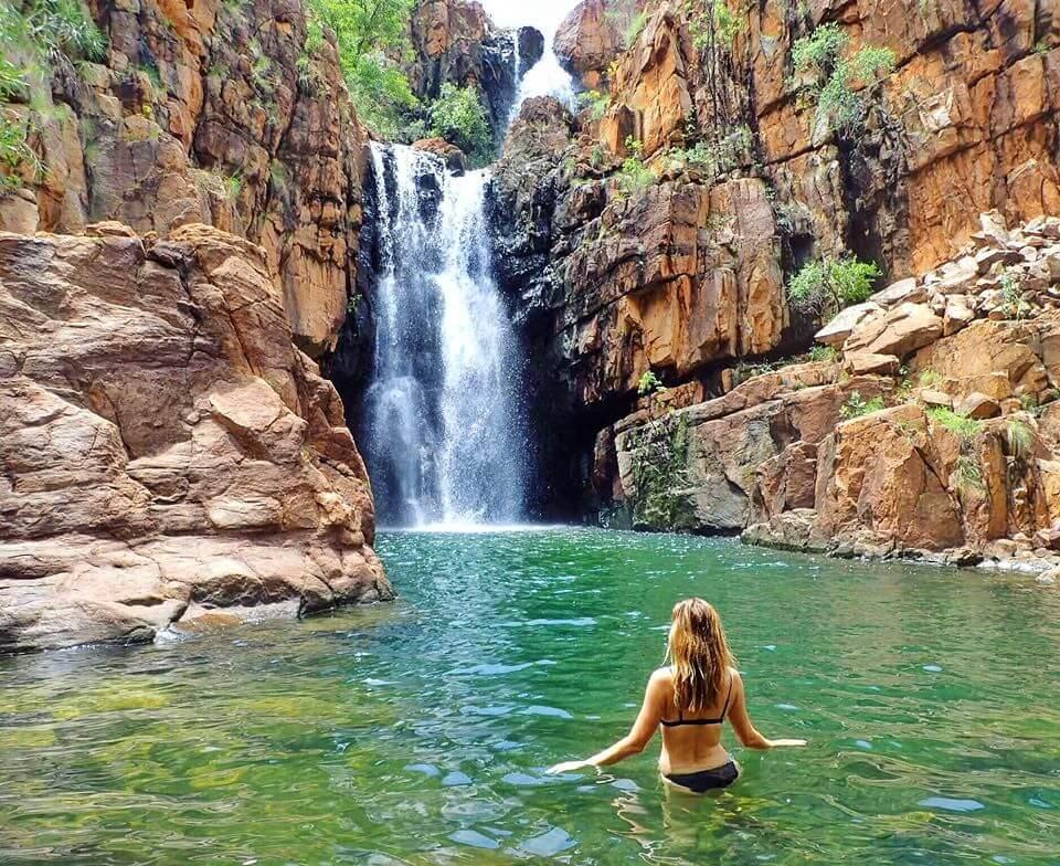 girl water mountains
