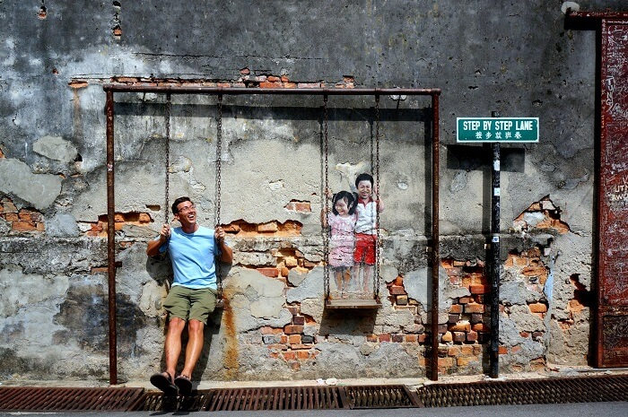 the street art in Penang