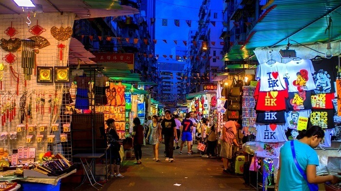trinkets and souvenirs at night market
