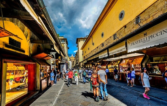 famous spot for shopping in italy