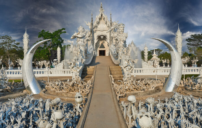 The inside of Wat Rong Khun, Thailand