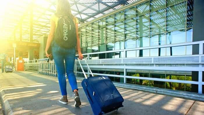 traveller going for a trip