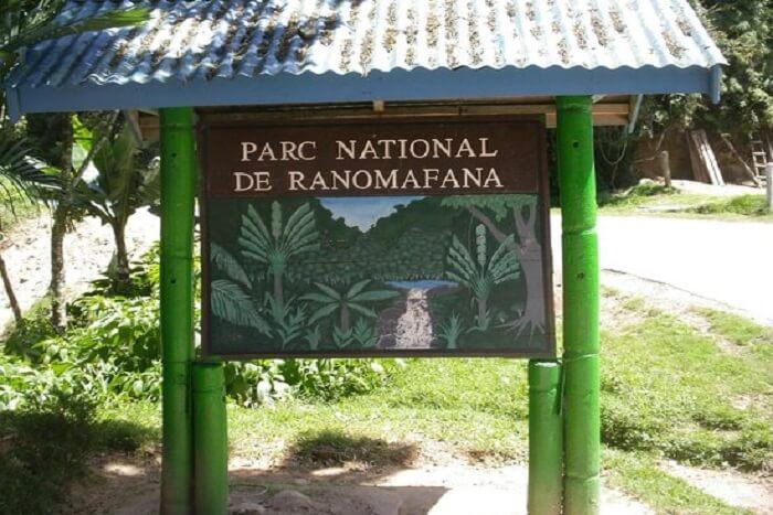 parc national de Ranomafana sign board