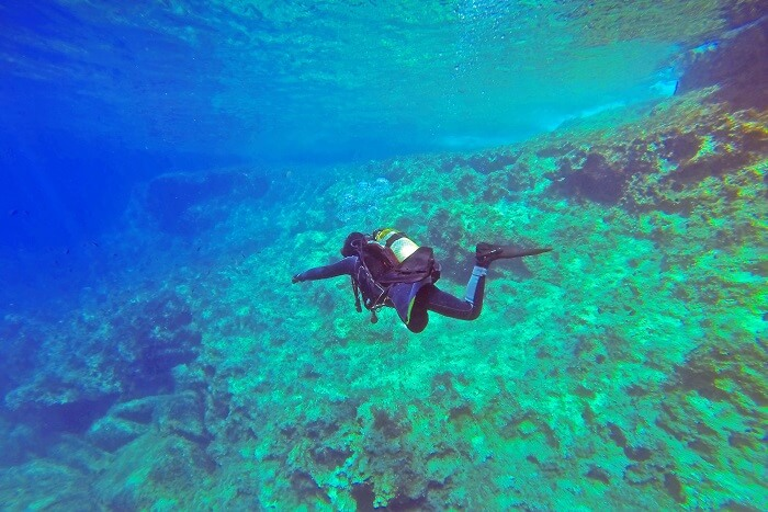 Scuba diver in the ocean image in Nature and Landscapes category at pixy.org