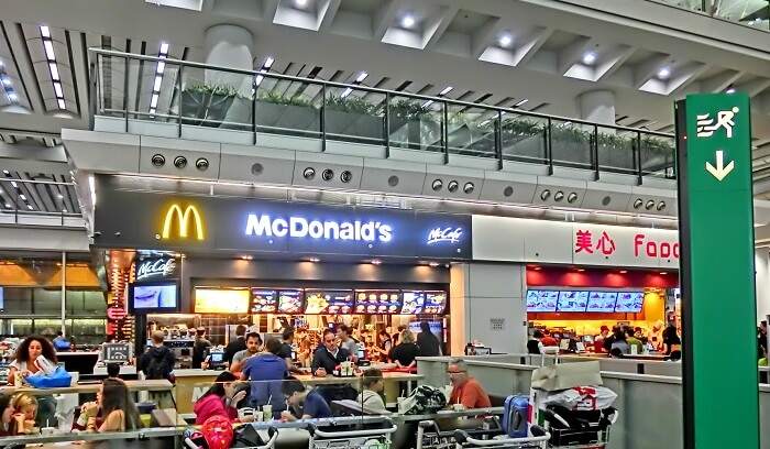 dining at airport