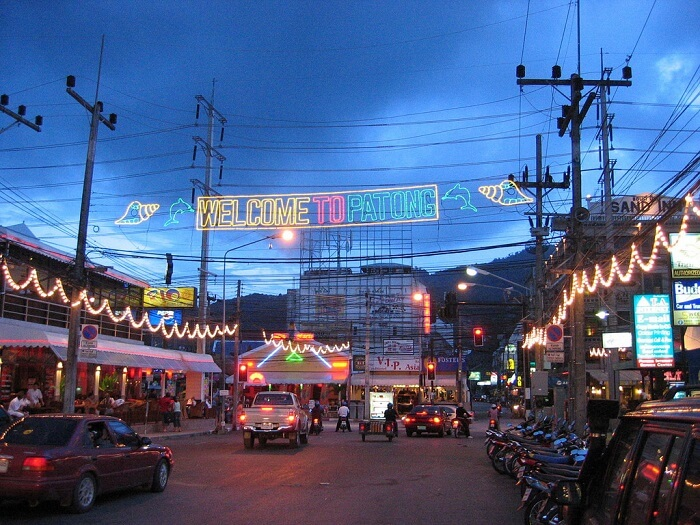 evening time at patong