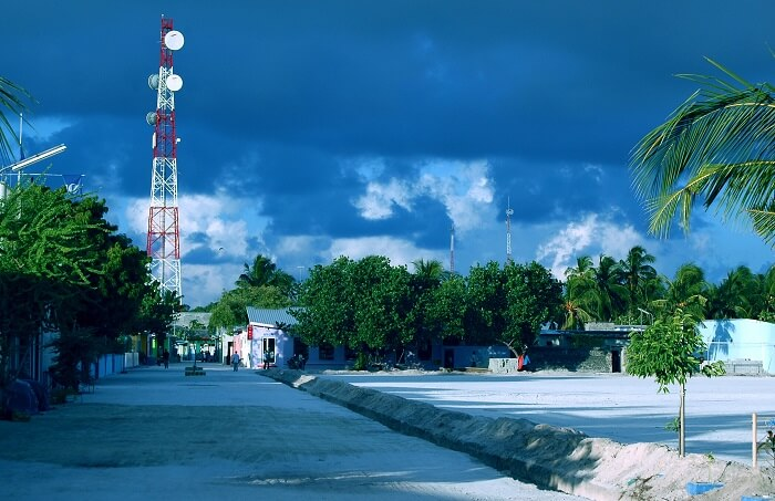 A view of Maafushi island