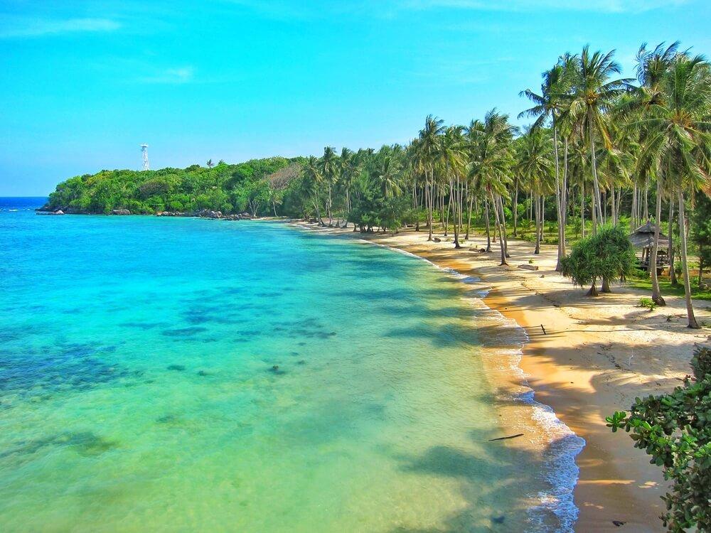island offers beautiful white beaches