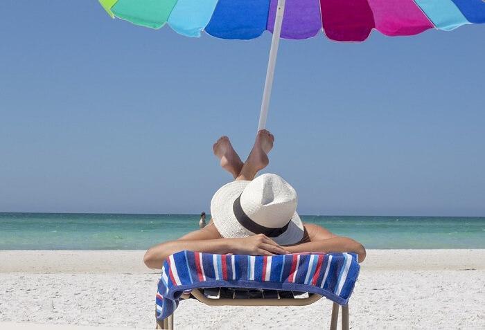 sunbathing session