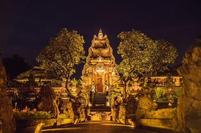 Night View of Ubud Water Palace