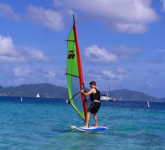 adventurous windsurfing